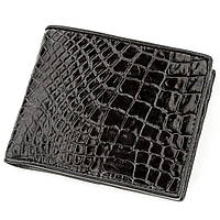 Портмоне Crocodile Leather 18528 из натуральной кожи крокодила Черное, КОД: 1325660