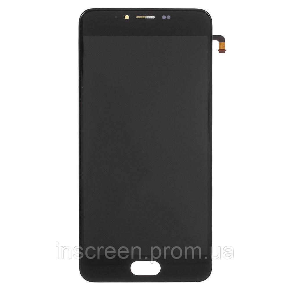 Экран (дисплей) Meizu M5 M611 с тачскрином (сенсором) черный Оригинал Китай