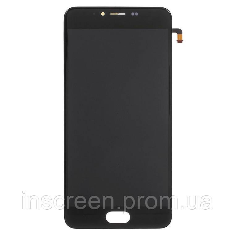 Экран (дисплей) Meizu M5 M611 с тачскрином (сенсором) черный Оригинал Китай, фото 2