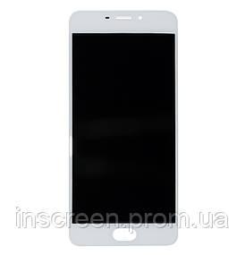 Дисплей Meizu M5 Note M621 з сенсором (тачскрін) білий