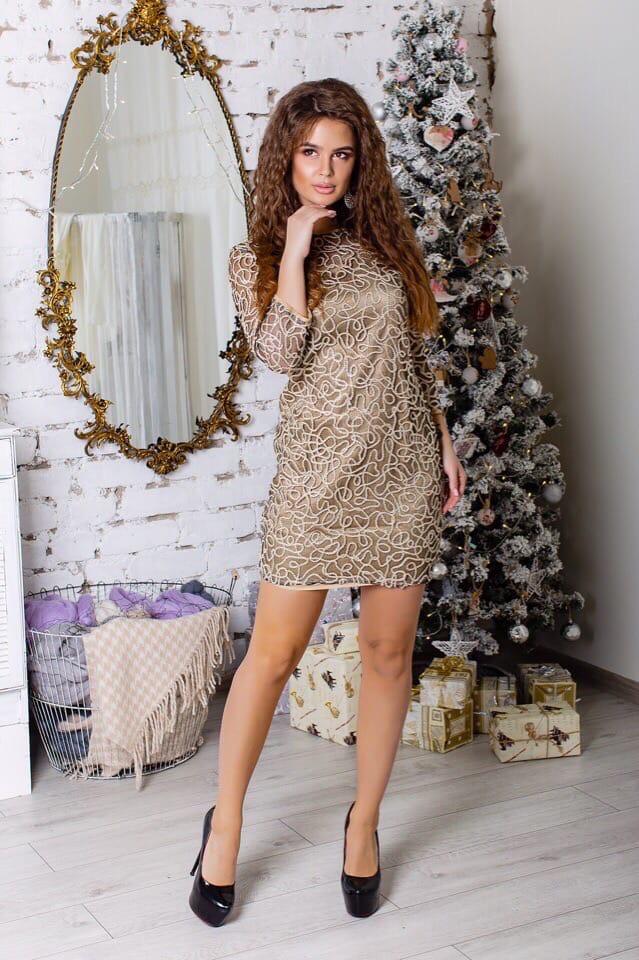 Сукня люрекс золото 742705