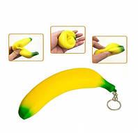 Антистресс для рук сквиш Банан брелок 12 шт в упаковке