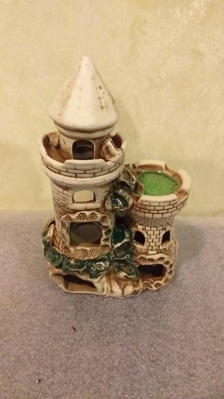 Керамическая декорация, дизайн аквариума, замок, крепость, башня с431