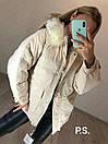 Женская парка зимняя на пуху и с меховой опушкой на капюшоне 76kur215, фото 2