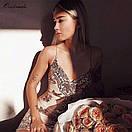 Кружевное платье на бретелях с декольте 48plt558, фото 4