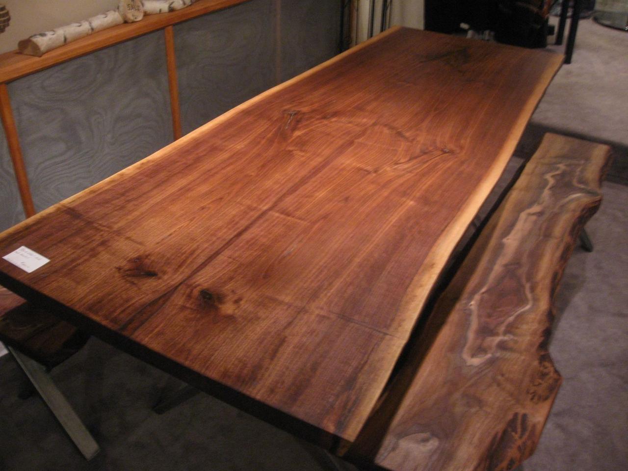 Деревянная кухонная столешница живой край