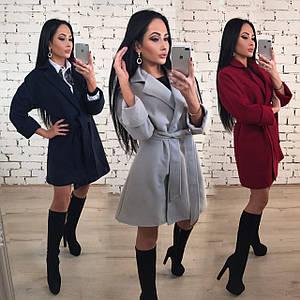 Кашемировое пальто женское /разные цвета, 42-46, ft-1026/