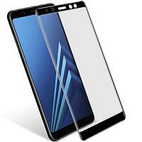 Защитное стекло Polar Glass 5D Full Glue для Samsung Galaxy A8 2018 A530 Black 743924, КОД: 700467