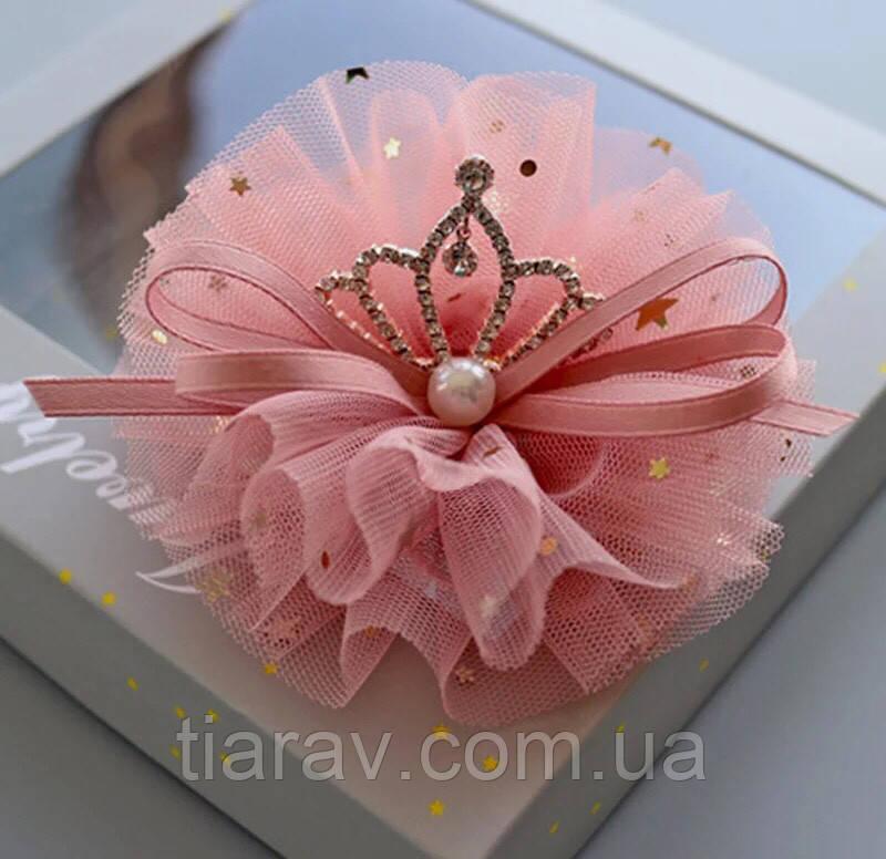 Корона на заколке для волос, детская корона на голову