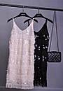 Платье из пайетки и бахрамы на бретелях 79plt571, фото 2