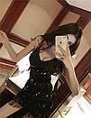 Платье из пайетки и бахрамы на бретелях 79plt571, фото 7