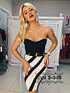 Платье бандажное с открытым верхом с чашками и черно-белым низом 79plt572, фото 2