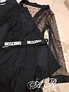 Черное платье с длинным кардиганом из сетки с декором 79plt575, фото 3