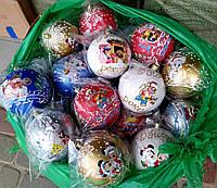 Очень красивые новогодние шары на елку с красивыми мышками 10см
