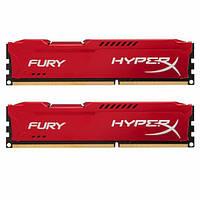 Память Kingston 16 GB (2x8GB) DDR3 1600 MHz HyperX FURY (HX316C10FRK2/16), фото 1