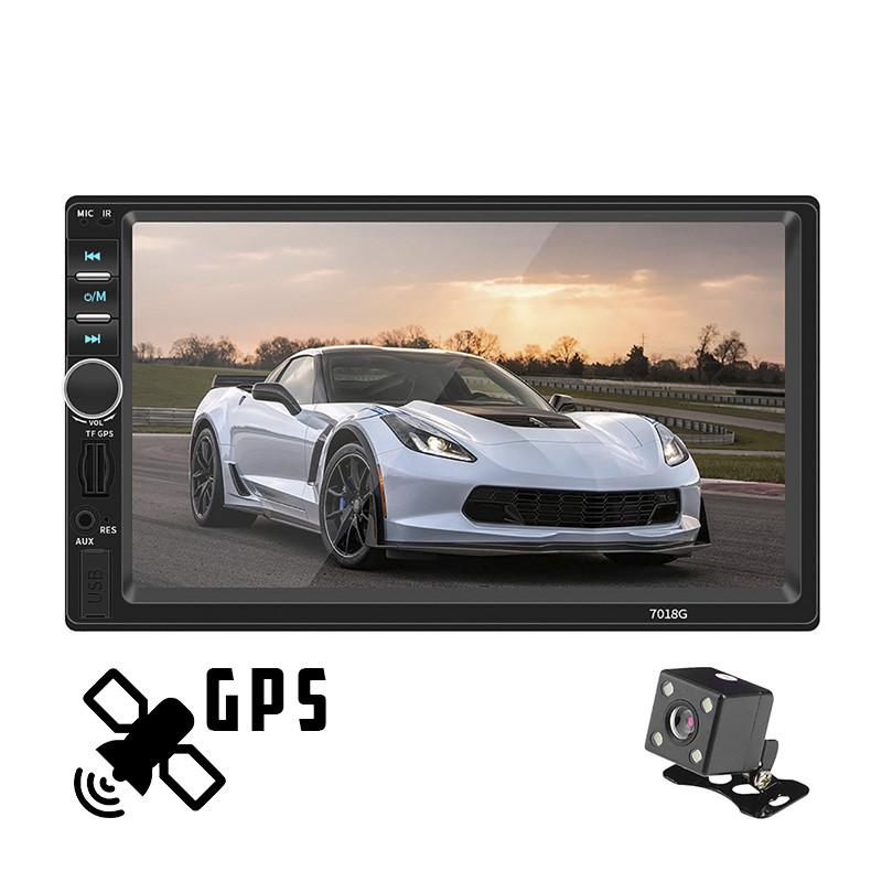 Автомагнітола 2DIN MP5 7018G з GPS, камера заднього виду, магнітола 2 ДІН в авто (магнітола 2 дін, магнітофон)