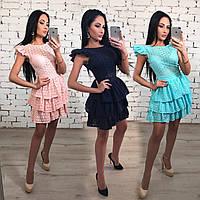 Летнее платье из батиста без рукавов /разные цвета, 42-46, ft-1027/