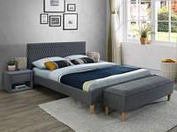 Ліжко двоспальне Signal Azurro 160x200 сіре TAP. 23