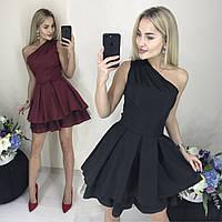 Нарядное платье с открытым плечом /разные цвета, 42-46, ft-1028/