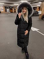 Куртка женская длинная теплая норма и батал в разных цветах
