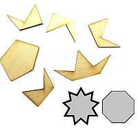 Головоломка деревянная Восьмиугольник Крутиголовка krut0158, КОД: 120243