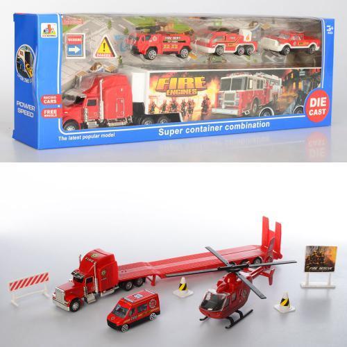 Игрушечная машина Трейлер Пожарная служба металл DS852