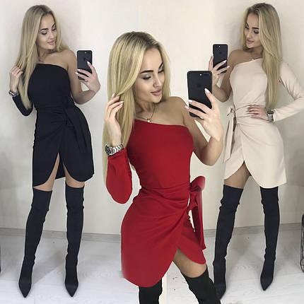 Сногсшибательное платье на одно плечо /разные цвета, 42-46, ft-1032/, фото 2