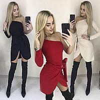 Сногсшибательное платье на одно плечо /разные цвета, 42-46, ft-1032/