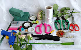 Матеріали та інструменти для флористики