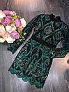 Гипюровое нарядное платье с пайеткой и длинным рукавом 79plt582, фото 3