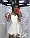 Платье с расклешенной юбкой и сеткой с блестками и жемчугом сверху 79plt584, фото 4
