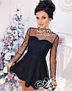 Платье с расклешенной юбкой и сеткой с блестками и жемчугом сверху 79plt584, фото 5