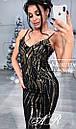 Платье из пайетки узорами длиной миди и вырезом декольте с чашками 79plt587, фото 3