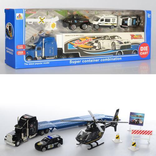 Трейлер Полиция DS855 игровой детский набор транспорт