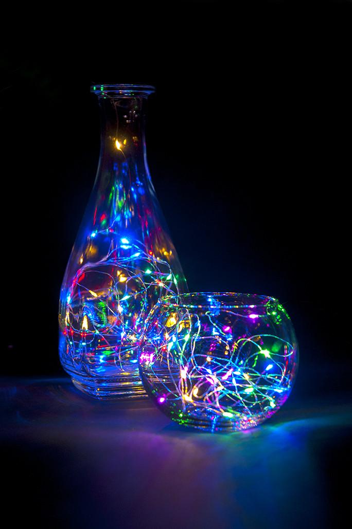 Гирлянда проволока, светящееся украшение для праздника, 3м multicolor