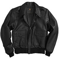 Куртка Alpha Industries A-2 Leather M Black, КОД: 1313194