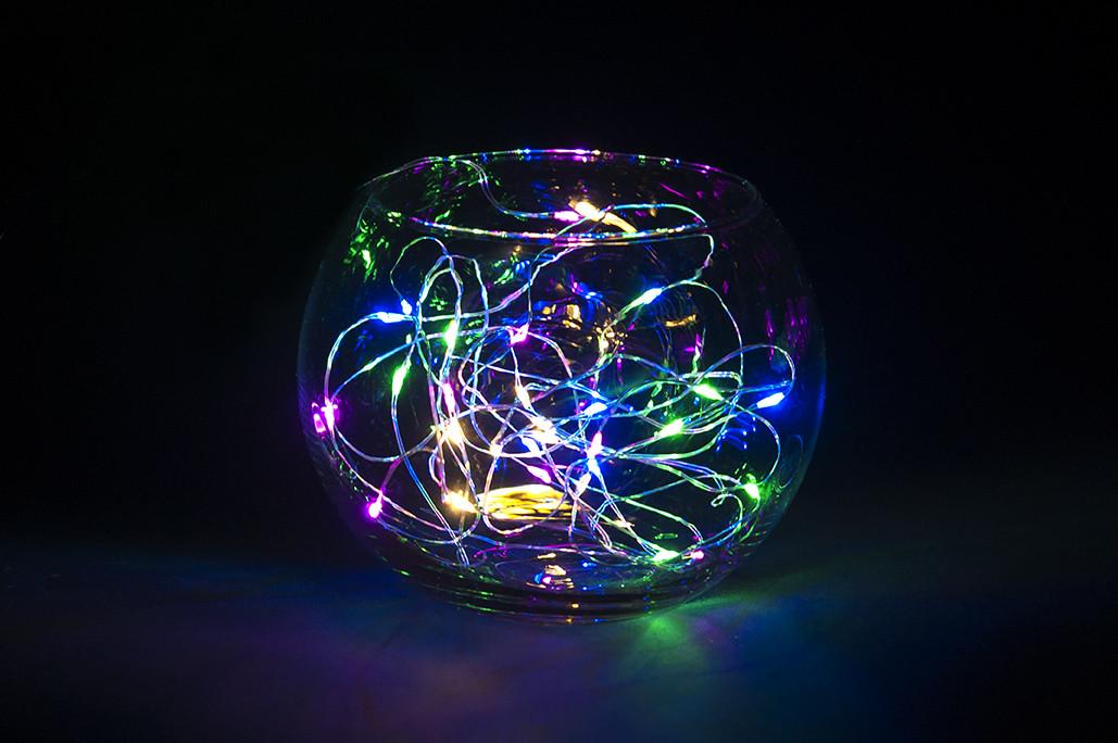 Гирлянда проволока (нить), светящееся украшение для праздника, 2м multicolor