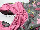 Комбінезон хутро 25 см разм 0 Парасолька рожевий  для собак, фото 5