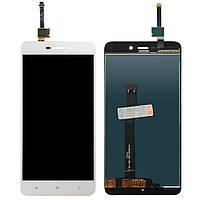 Экран (дисплей,lcd) Xiaomi Redmi 4A с тачскрином (сенсором,touchscreen) белый