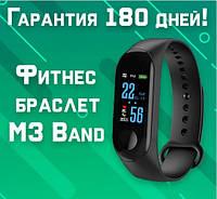Фитнес браслет  браслет М3  цветной экран!шагомер,пульс, давление,качество сна