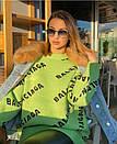Вязаная туника свободная с надписями 68plt610, фото 4