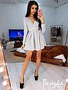 Платье из люрекса с расклешенной юбкой и длинным рукавом 68plt633E, фото 4