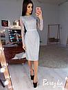 Платье футляр из сетки с пайетками и длинным рукавом 66plt642E, фото 4