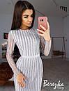 Платье футляр из сетки с пайетками и длинным рукавом 66plt642E, фото 5