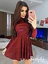 Платье из люрекса с расклешенной юбкой и длинным рукавом 66plt652E, фото 3