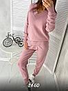 Женский вязаный теплый костюм с кашемиром и с V-вырезом горловины, штаны зауженные 79kos374, фото 2
