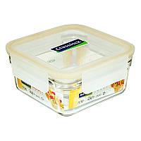Уценка! Стеклянный контейнер для хранения и запекания с герметичной крышкой с креплениями Glasslock, 1130 мл., квадратный (ORST-113)