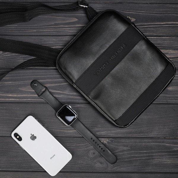 Стильная сумка через плечо барсетка Tommy Hilfiger томи Черная Vsem