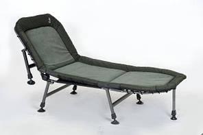 Розкладушка-ліжко коропова Elektrostatyk L14 з регульованою спинкою, 7 ніжок, навантаження до 100 кг