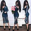 Вечернее платье. Размер: С,М. Ткань кружевной трикотаж с люрексом. Цвета разные (13005), фото 7